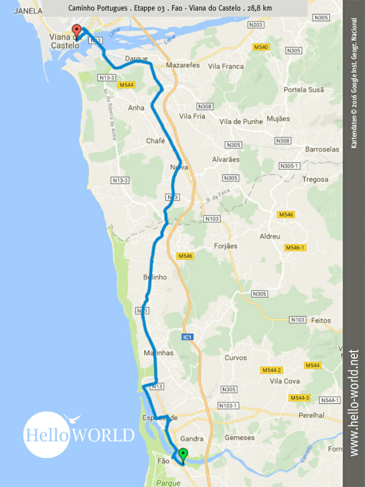 Etappe 3: Von Fao nach Viana do Castelo...