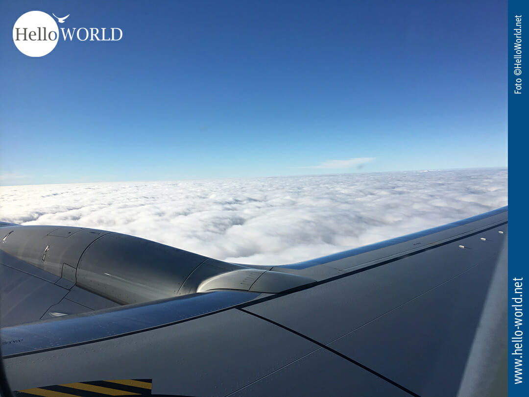 Über den Wolken auf dem Weg nach Porto