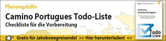 Das ist der Banner für die Planungshilfe Camino Portugues Todo-Liste.