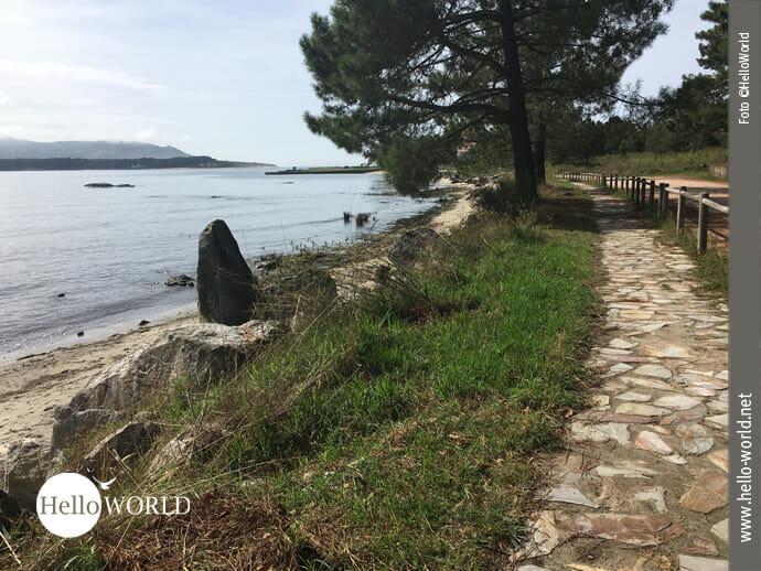 Hola auf der spanischen Seite des Camino Portugues