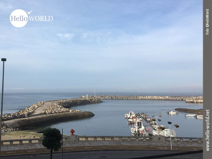 Start zur nächsten Jakobsweg-Etappe am Hafen von Ancora