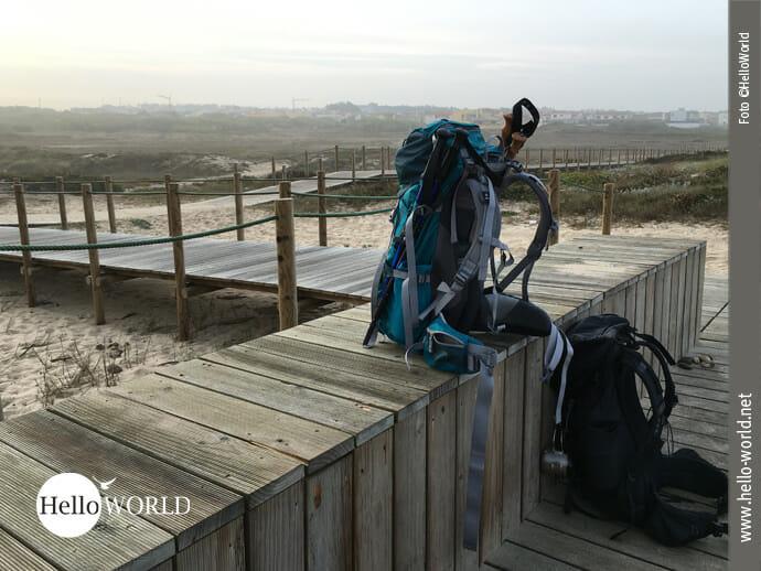 Pause machen auf dem Camino Portugues da Costa