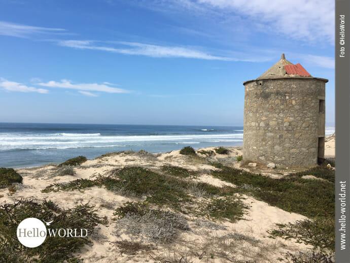 Alte Steinmühlen am Rande des Camino Portugues