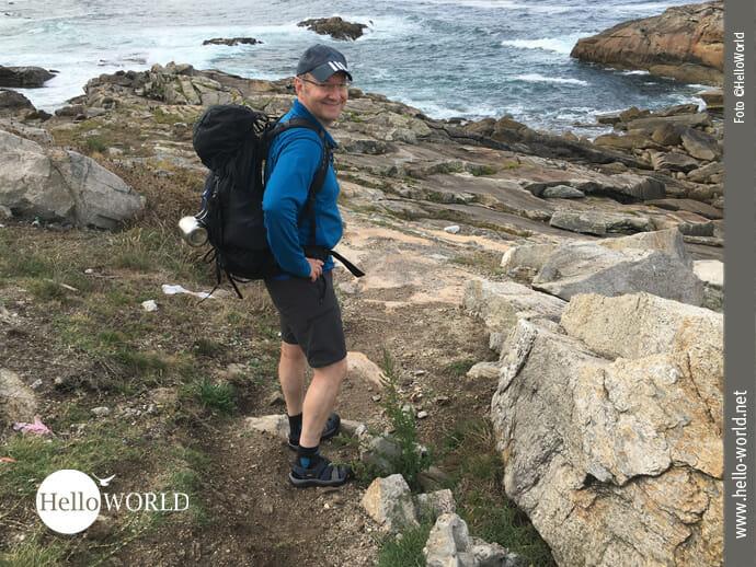 Caminho Portugues da Costa: Felsen und Meer