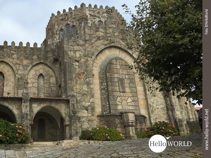 Besichtigung bei der siebten Camino Portugues Etappe