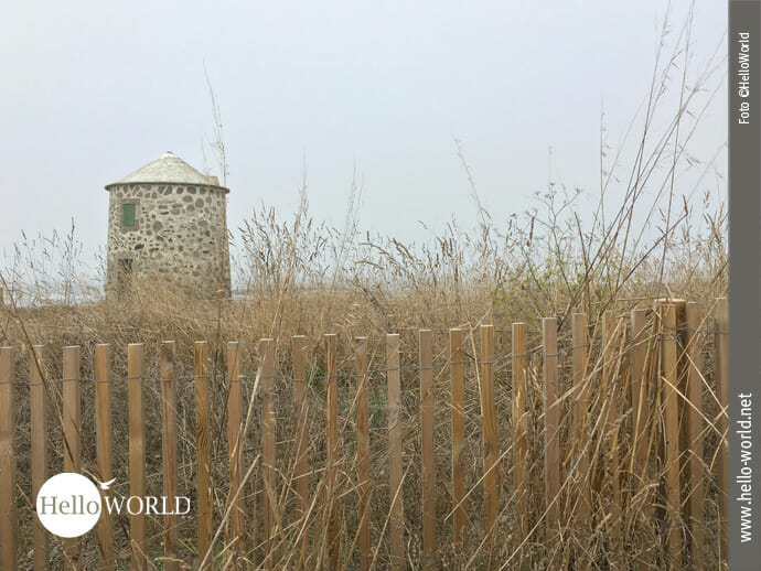 Steinmühle auf dem Weg am Camino Portugues da Costa