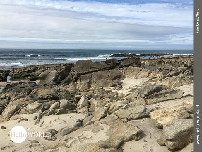 Felsenlandschaft auf dem Camino Portugues da Costa