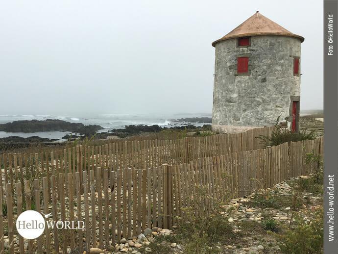Eine von vielen: Steinmühle am Caminho Portugues da Costa