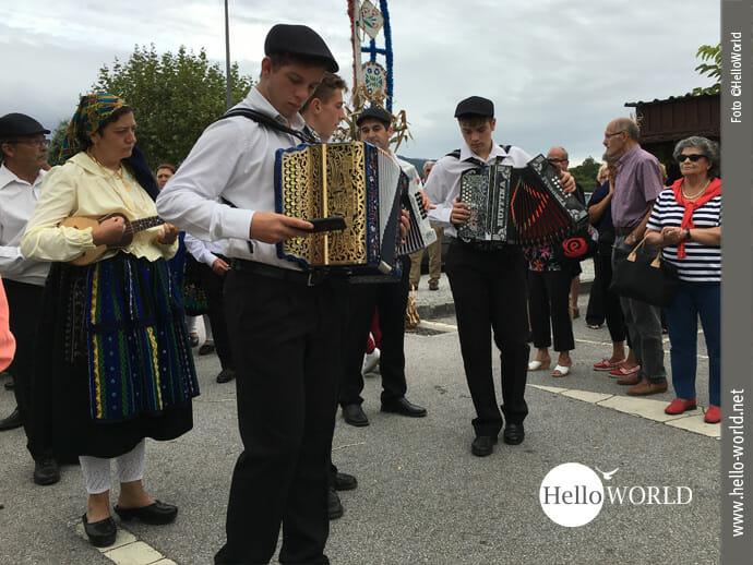Erntedankfest am Rande des Caminho Portugues