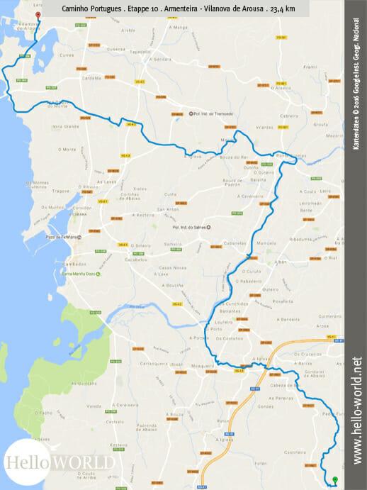 Caminho Portugues Etappe 10: Armenteira - Vilanova de Arousa