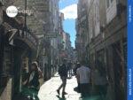 Gassen in der Altstadt von Santiago de Compostela