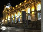 Der alte Bahnhof von Porto bei Nacht