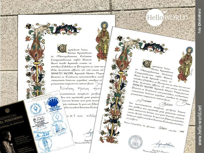 Die Compostela: Auszeichnung für Pilger