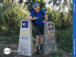 Wegweiser auf dem Camino Portugues