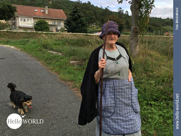 Begegnung mit der Landbevölkerung auf dem Caminho Portugues