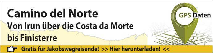 Das ist der Banner für den Camino del Norte GPS-Daten-Download.