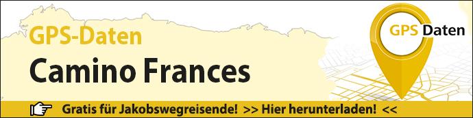 Werbebanner für die GPS-Daten des Camino Frances