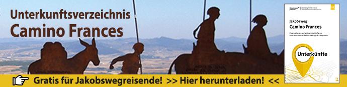 Werbebanner für das Unterkunftsverzeichnis Camino Frances