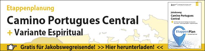 Werbebanner für die Planungshilfe Etappenplanung für den Camino Portugues Central