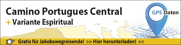 GPS-Daten für den Camino Portugues Central Banner