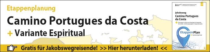 Etappenplanung für den Camino Portugues da Costa Downloadbanner