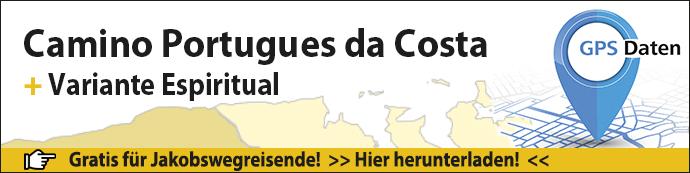 GPS-Daten für den Camino Portugues da Costa