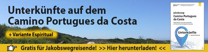 Werbebanner Unterkünfte auf dem Camino Portugues da Costa
