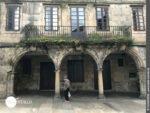 Hausfassade in Santiago de Compostela