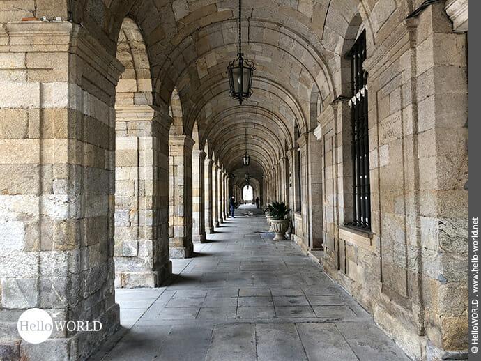 Arkadengang in Santiago de Compostela
