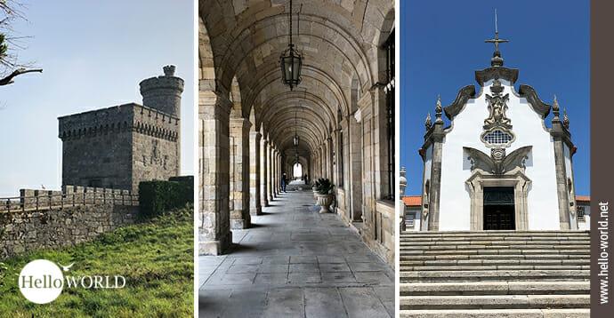 Das ist das Einstiegsbild zur Galerieserie des Camino Portugues Küstenweg, in der die Bilder 25 Bauwerke zeigen.