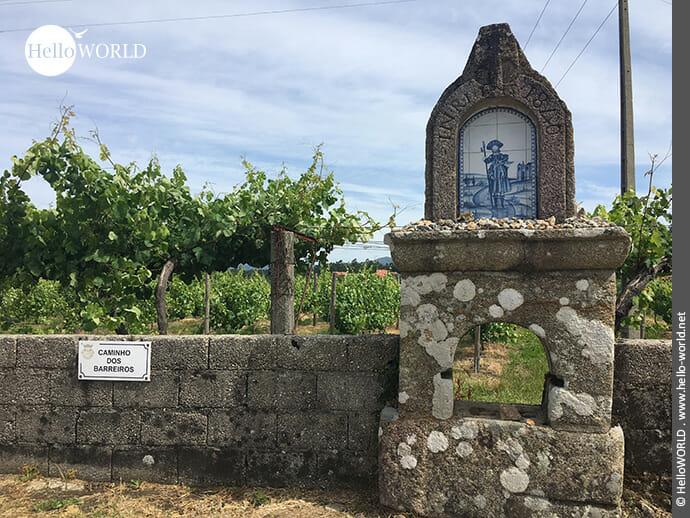 Bilder am Rande des Camino Portugues Central: der heilige Jakobus