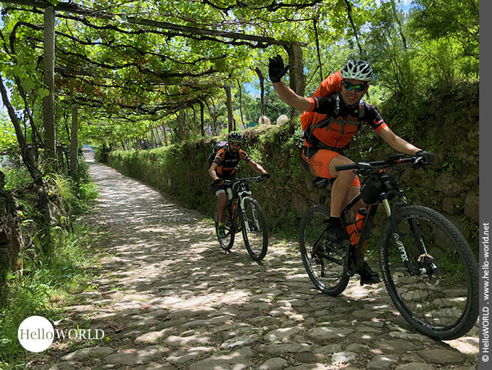 Fahrradpilger auf dem Camino Portugues Central