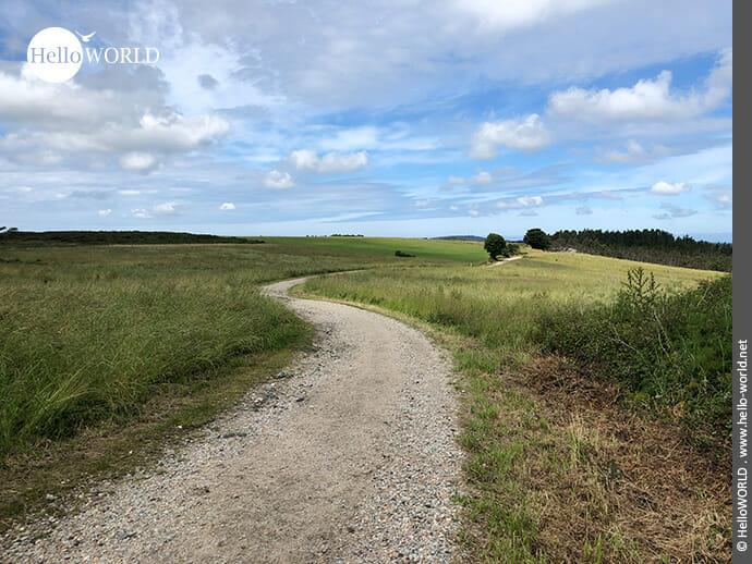 Über Wiesen und Felder führt der Camino Finisterre