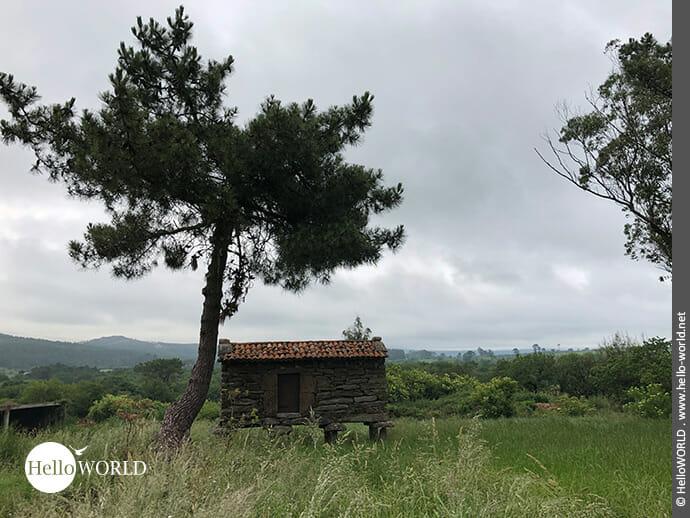 Landschaftsaufnahme auf dem Camino Finisterre bei Lago