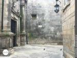 Wunderbare Ausstrahlung: die alten Mauern in Santiago de Compostela