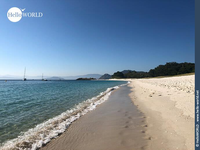 Der Playa de Rodas auf der Illa de Monteagudo