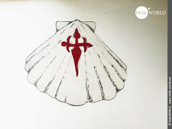 Die Muschel ist DAS Symbol für den Jakobsweg
