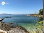 Kleiner Hafen in der Ria de Vigo bei Balea