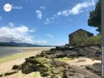 Malerische Küstenkulisse auf dem Camino Portugues Rundwanderweg