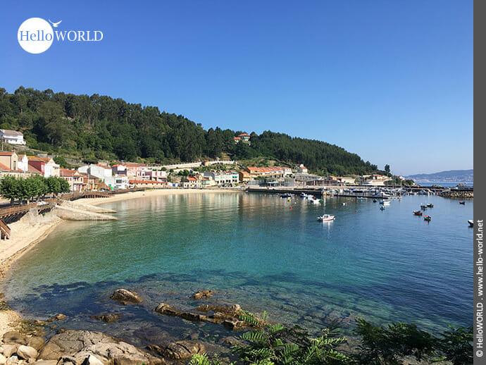 Kleiner Fischerort in den Rias Baixas