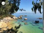 Im Verborgenen: kleiner Strand vor O Caballo