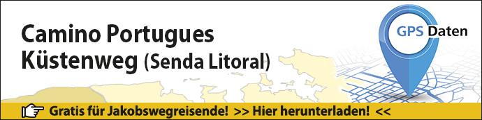 Das ist der Banner für die GPS-Daten zum Camino Portugues Senda Litoral