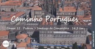 Hier sieht man die Kathedrale von Santiago de Compostela von oben, wie sie auch im letzten Camino Portugues Video zu sehen ist.