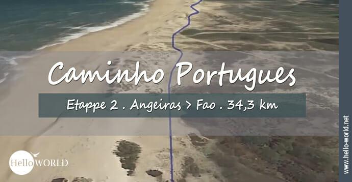 Hier sieht man eine Strandaufnahme aus dem zweiten Camino Portugues Video, das von Angeiras nach Fao führt.