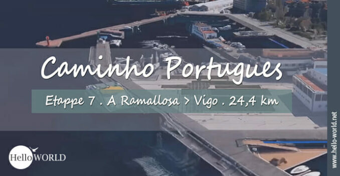 Hier sieht man eine Hafenaufnahme aus dem siebten Camino Portugues Video von A Ramallosa nach Vigo.