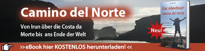 Dies ist der Werbebanner für das eBook Camino del Norte zum Herunterladen.