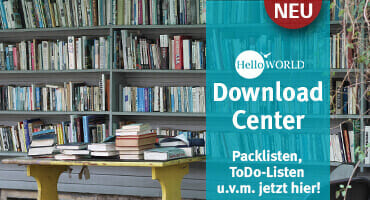 """Der Banner zeigt ein Bücherregal und die Info """"Download Center"""" jetzt hier."""