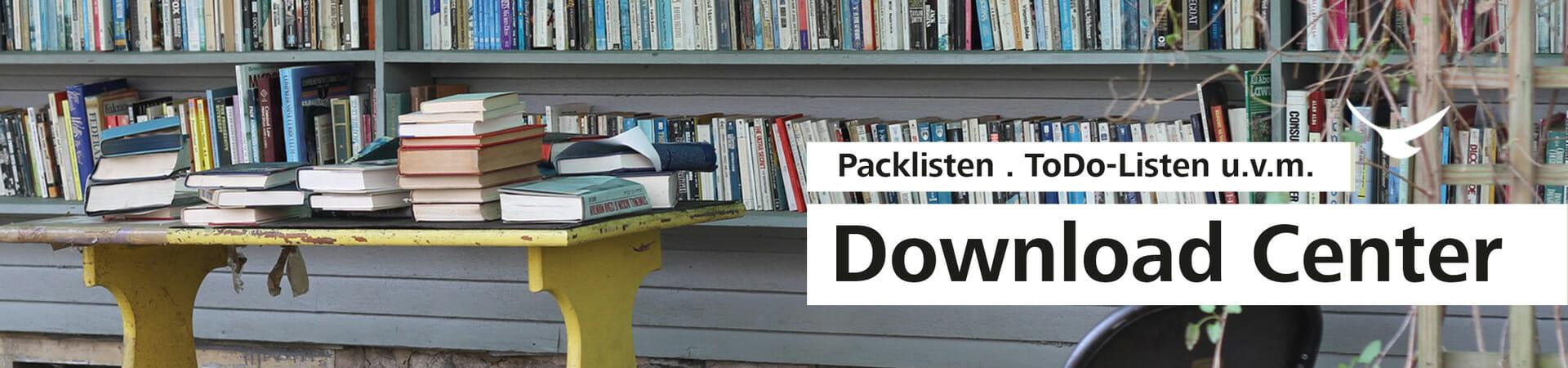 Dieses Bannerbild zeigt eine Werbung für das neue Hello World Download-Center