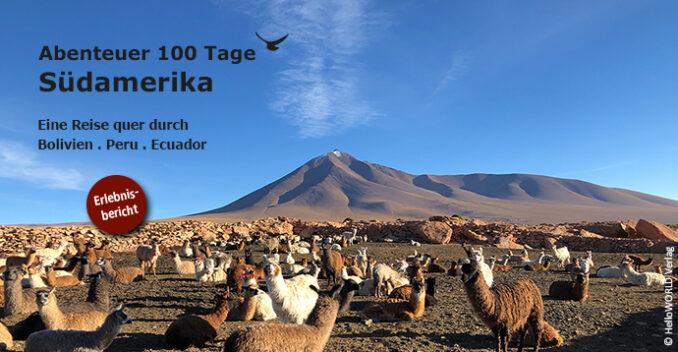 Titel der Erlebnisberichtsreihe zum Abenteuer Südamerika