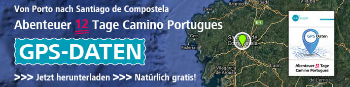 Dies ist der Banner für die Camino Portugues GPS Daten.